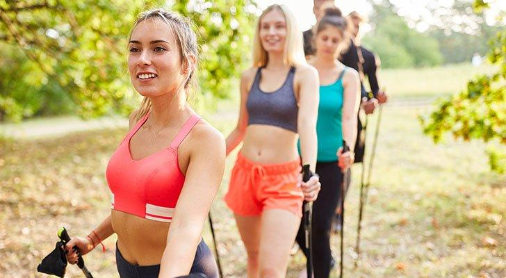 Spaß ist beim Nordic Walking ein größerer Motivator als Kalorienverbrauch