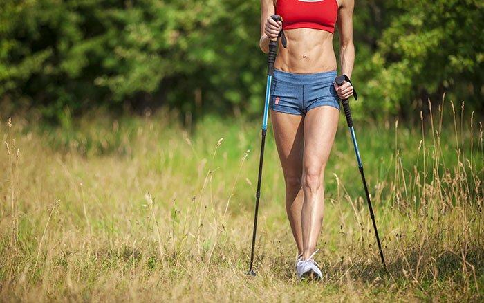 Welche Muskeln werden beim Nordic Walking trainiert? Kommt es zum Muskelaufbau?
