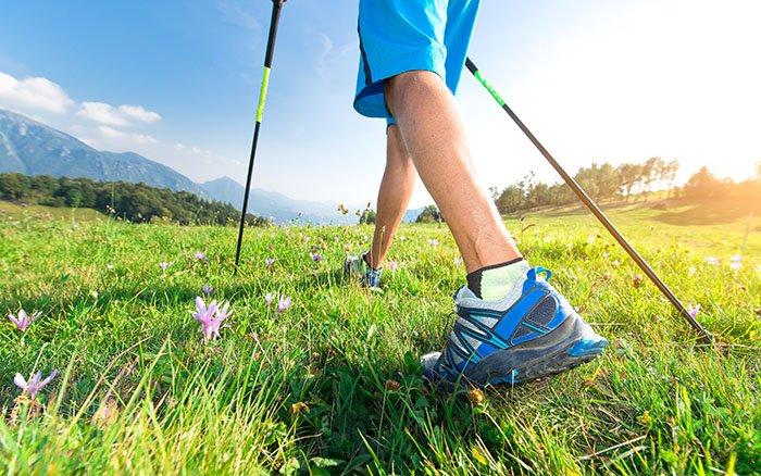 ALFA-Technik: Die grundlegende Körperhaltung beim Nordic Walking